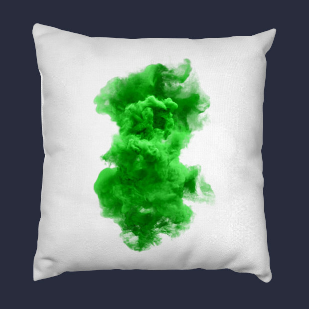 Green and white cloud Pillow