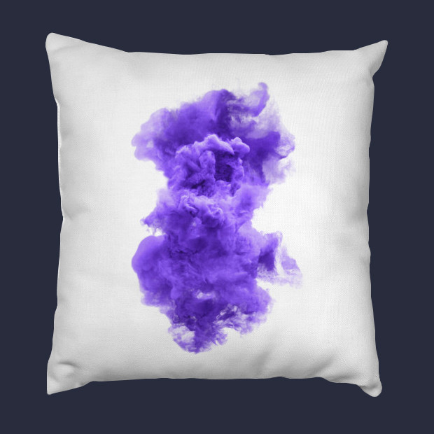 Purple and white cloud Pillow