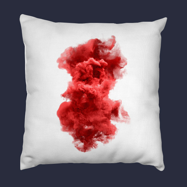 Red and white cloud Pillow