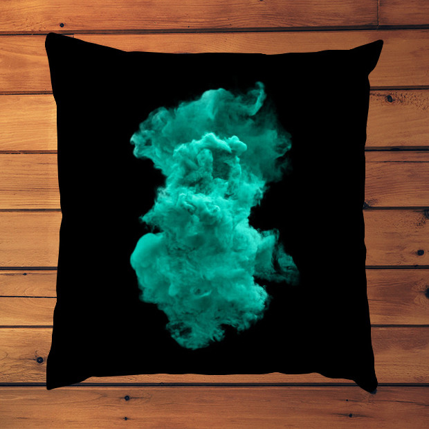 Turquoise cloud Pillow