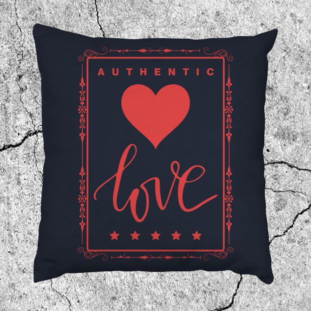 Authentic love Pillow