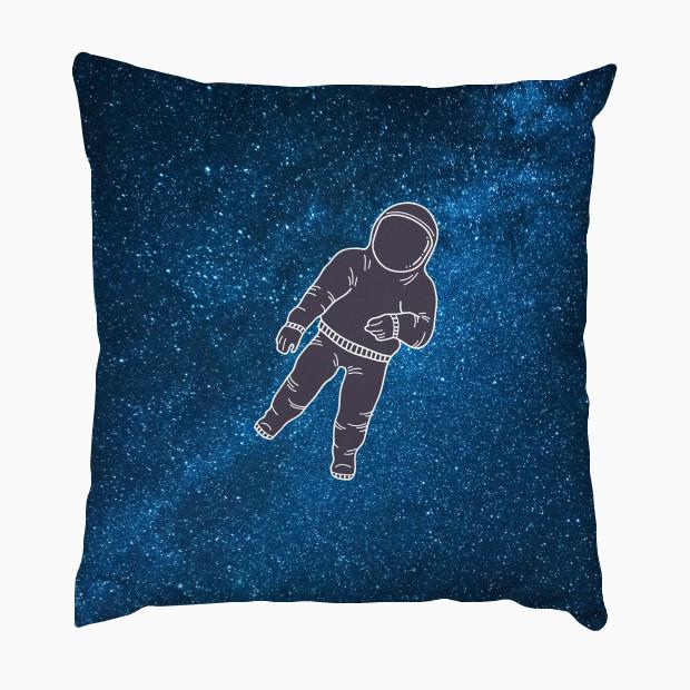 Astronaut in blue galaxy Pillow