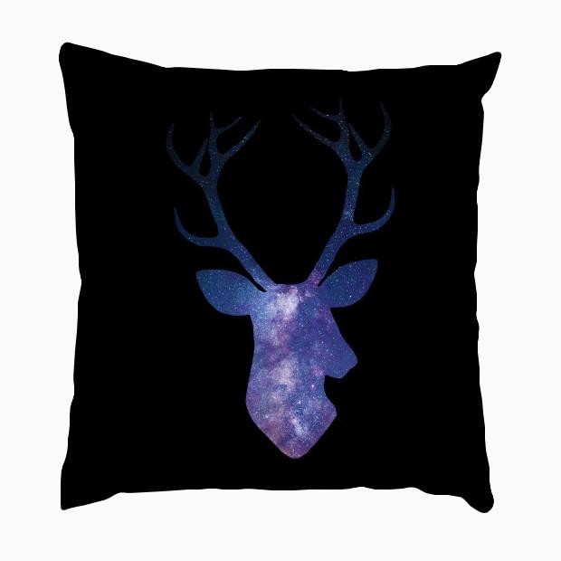 Cosmic deer head Pillow