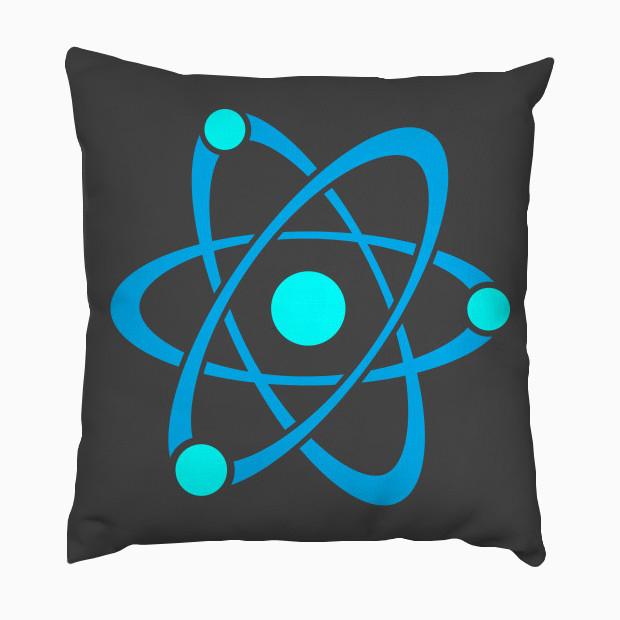 Cyan blue atom Pillow