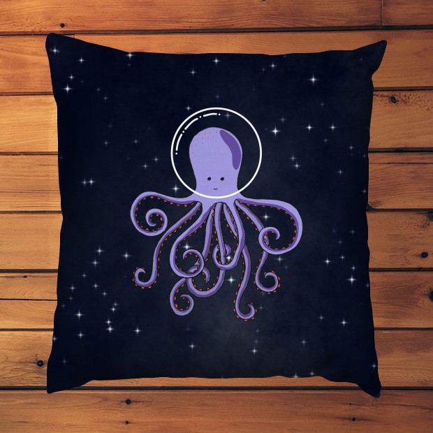 Octopus astronaut Pillow