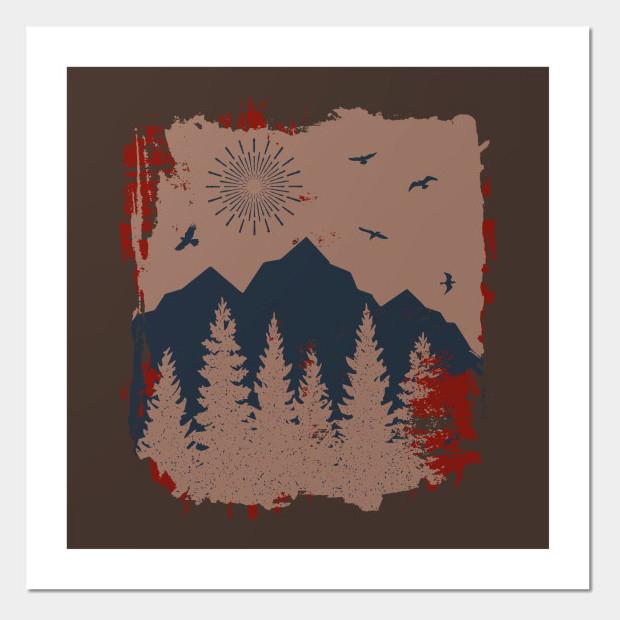 Artsy Vintage forest Poster