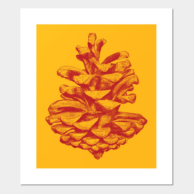 Artsy pine cone drawing Poster