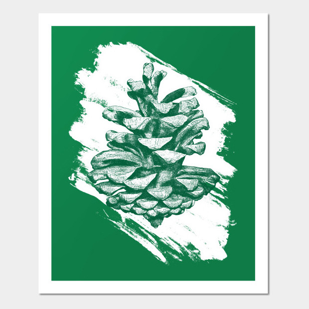 Artsy pine cone Poster