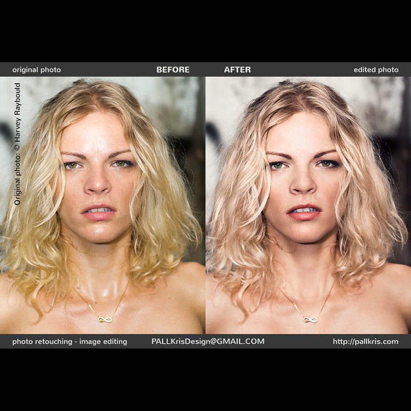 Blonde Girl retouching