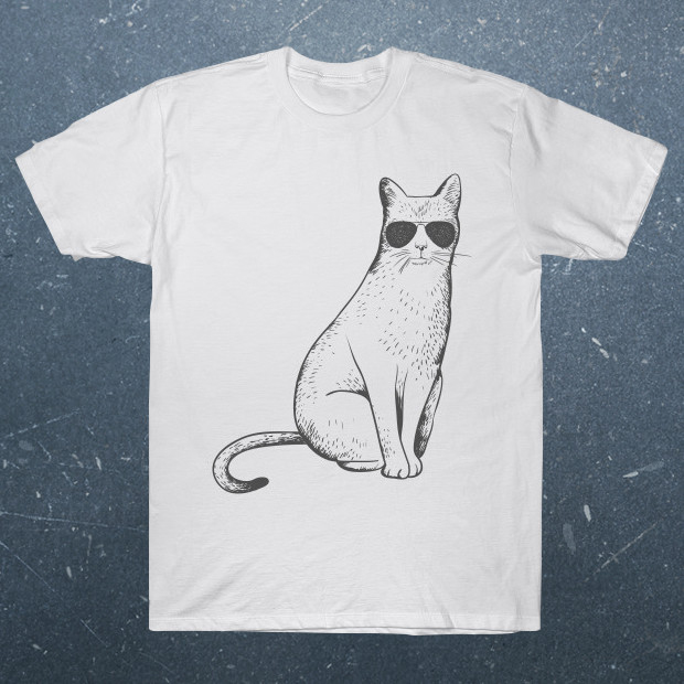 Cat with sunglasses T-Shirt