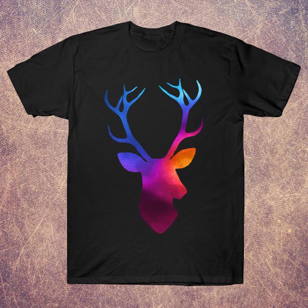 Deer head watercolor T-Shirt