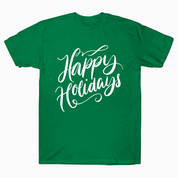 Happy Holidays calligraphy T-Shirt