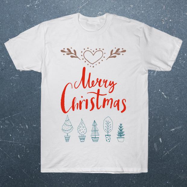 Merry Christmas artsy T-Shirt