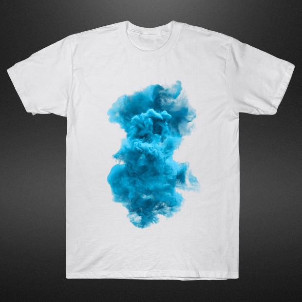 Cyan and white cloud T-Shirt