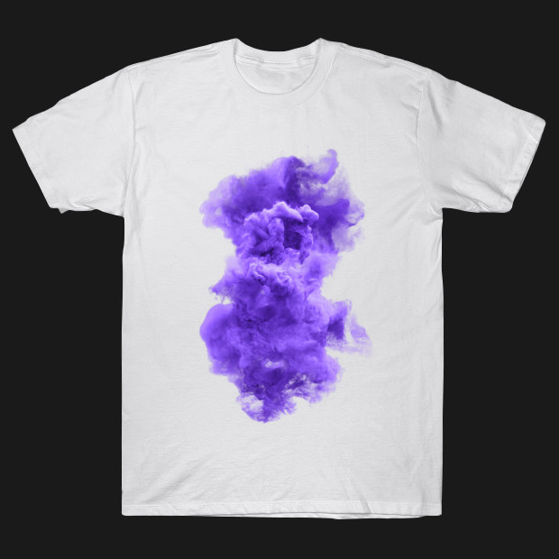 Purple and white cloud T-Shirt