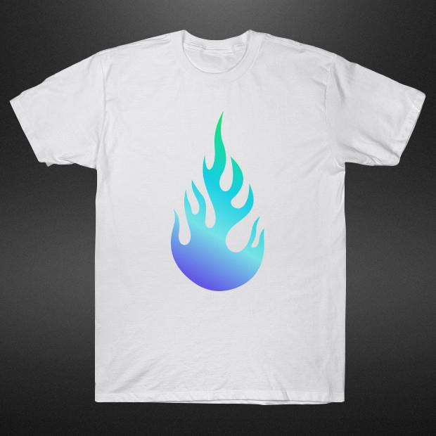 Cartoon fire T-Shirt