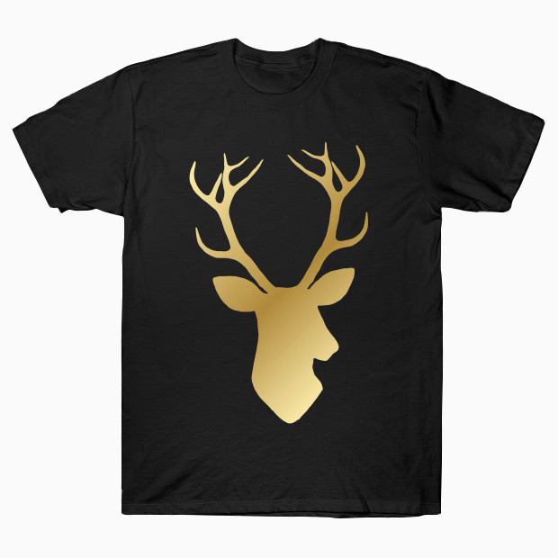 Gold deer head T-Shirt