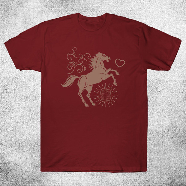 Artsy horse illustration T-Shirt