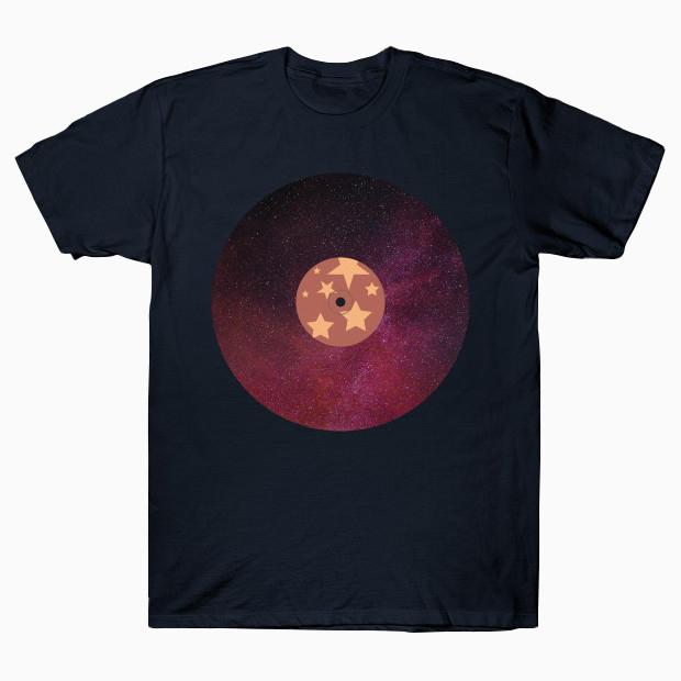 Red galaxy vinyl record T-Shirt
