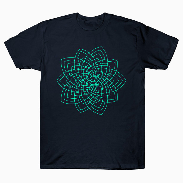 Geometric flower T-Shirt