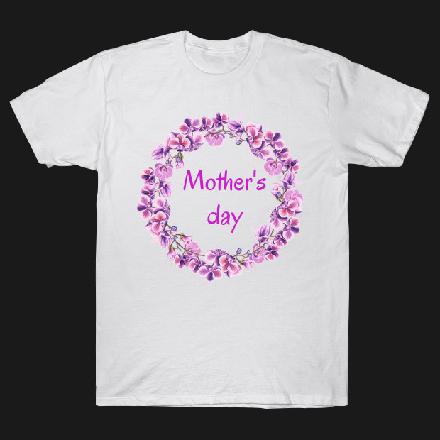 Pink wreath for mother day T-Shirt