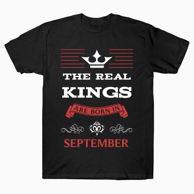 Birthday in September for Men T-Shirt