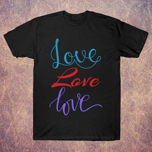 Colourful love T-Shirt