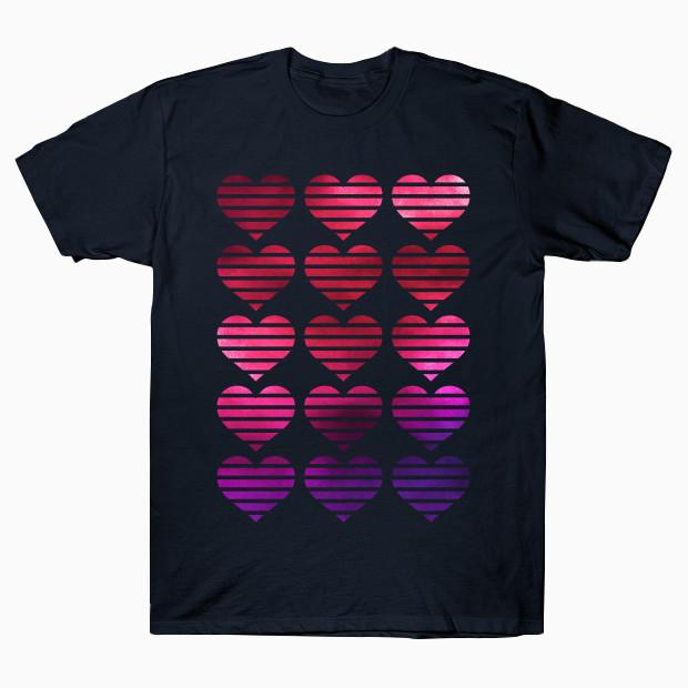 Mixed media hearts T-Shirt