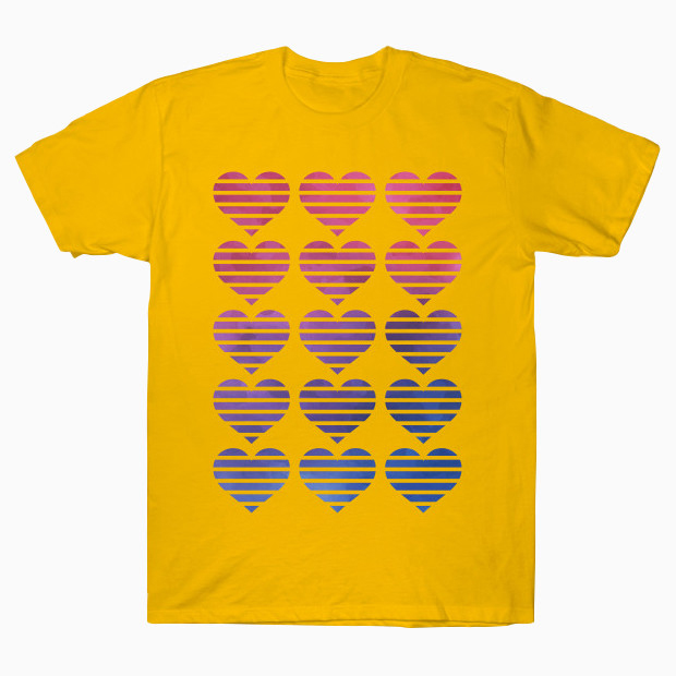 Pop art hearts T-Shirt