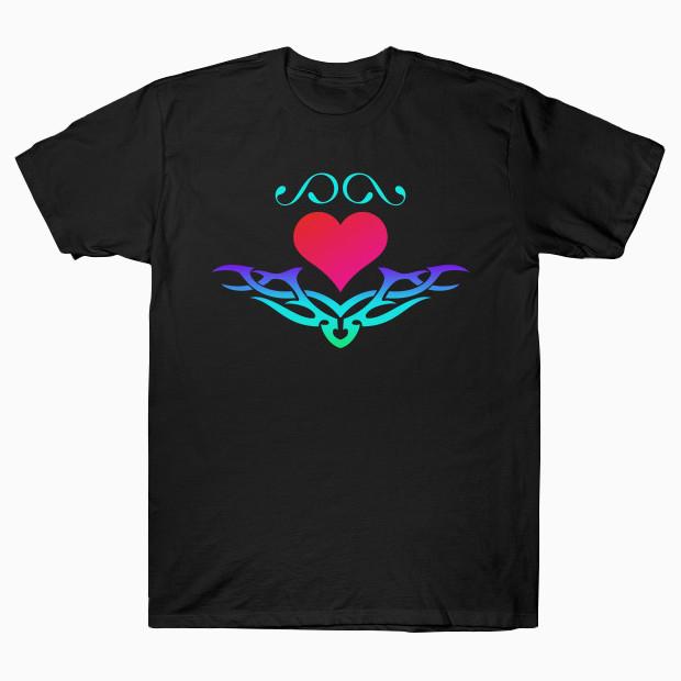 RGB tribal heart T-Shirt