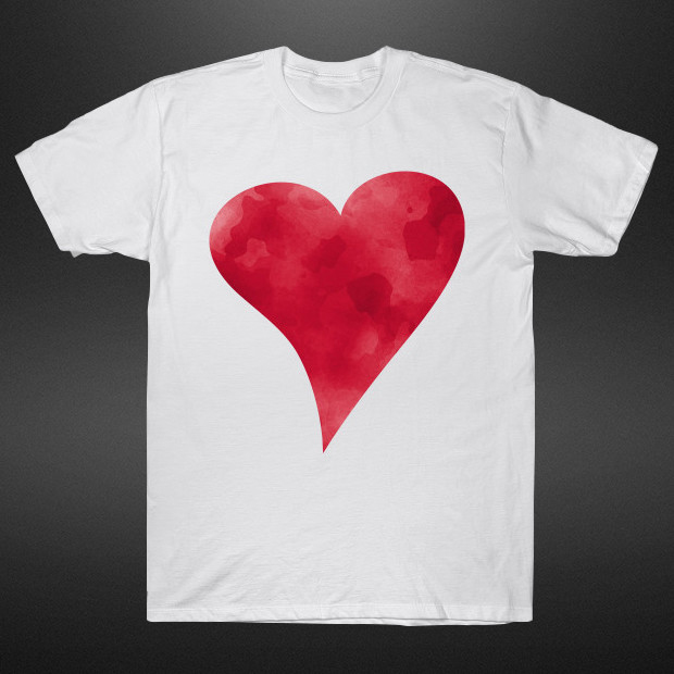 Red watercolor heart T-Shirt