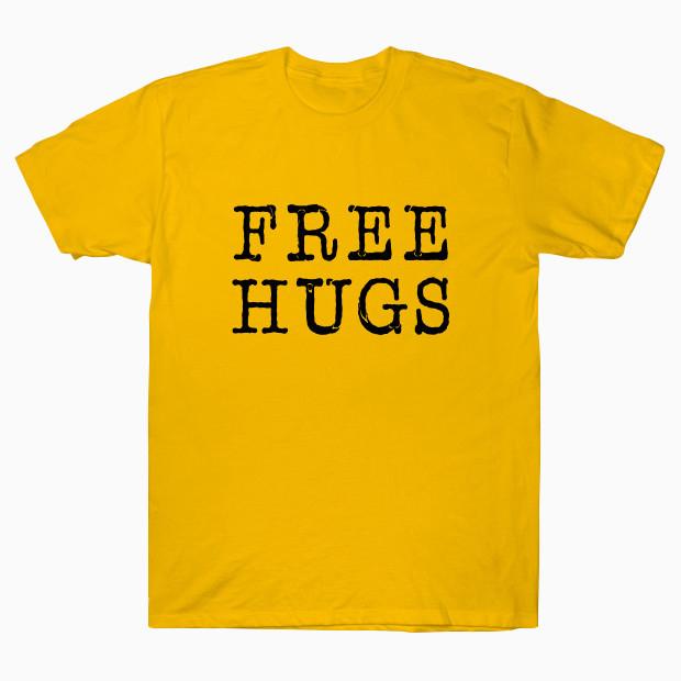 Free Hugs Typewriter T-Shirt