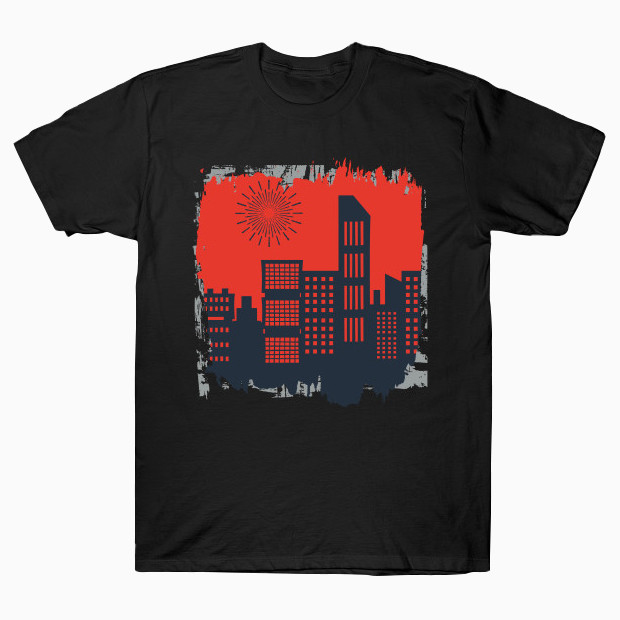 Sunrise City art T-Shirt