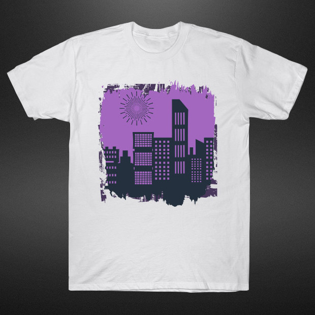 Sunrise in the city purple vibes T-Shirt