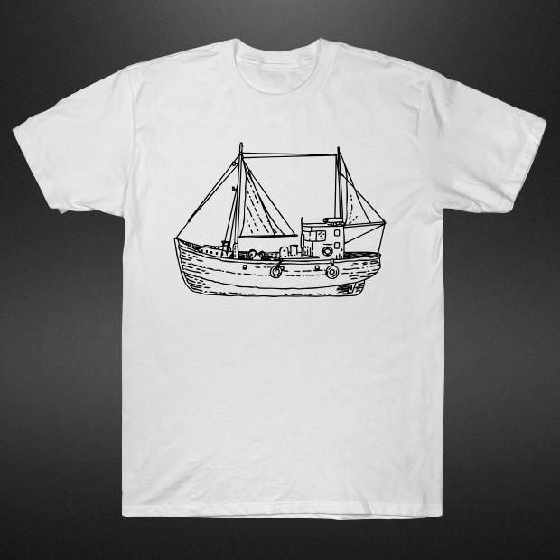 Vintage ship drawing T-Shirt