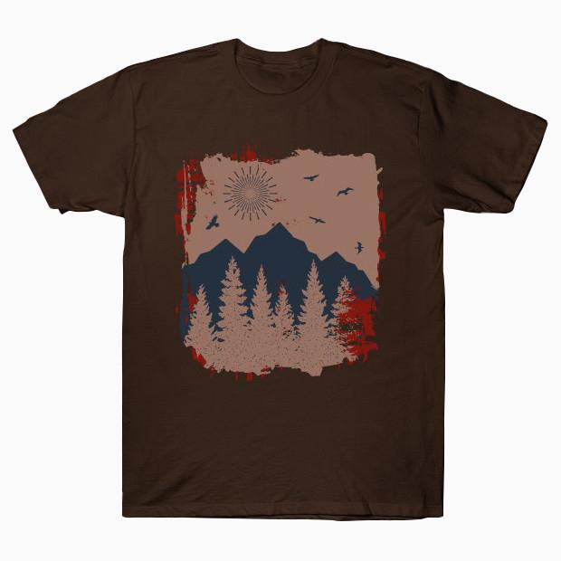Artsy Vintage forest T-Shirt