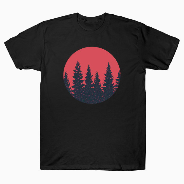 Forest at sunset T-Shirt