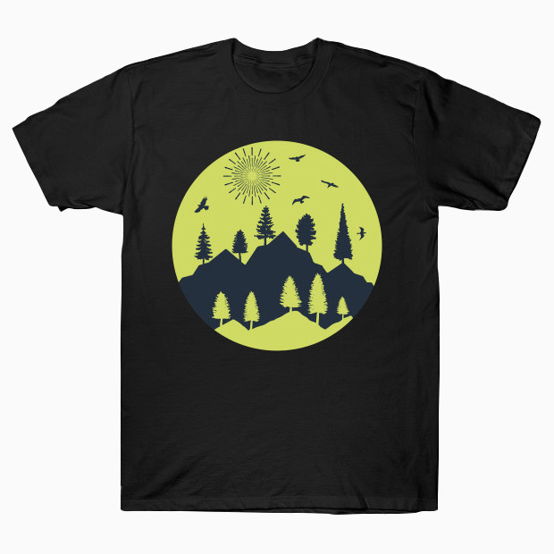 Sunny day in the mountains T-Shirt