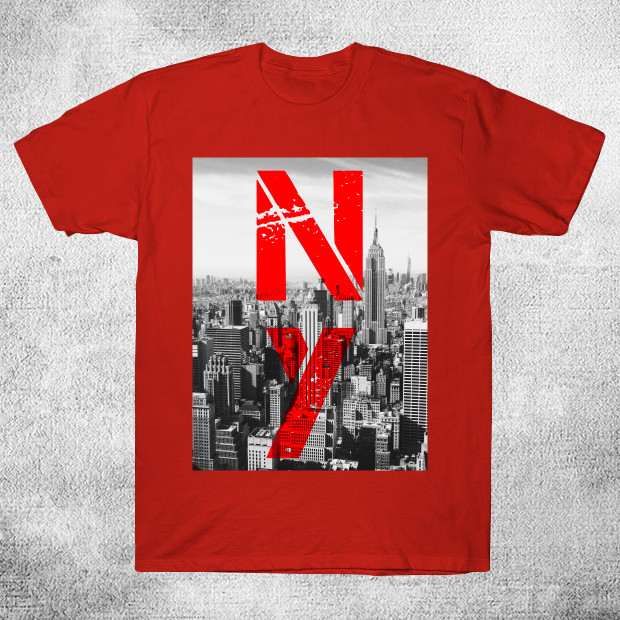 New York Streetwear Red T-Shirt