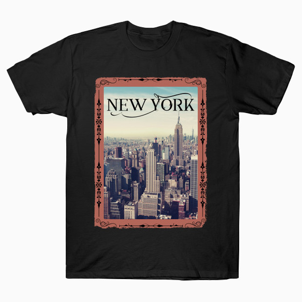 New York vintage frame T-Shirt