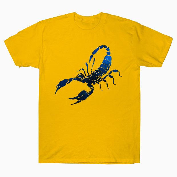 Blue scorpion watercolor painting T-Shirt