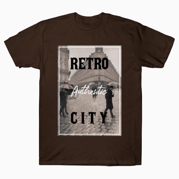 Vintage rainy city T-Shirt
