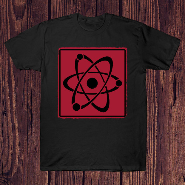 Retro atom red T-Shirt