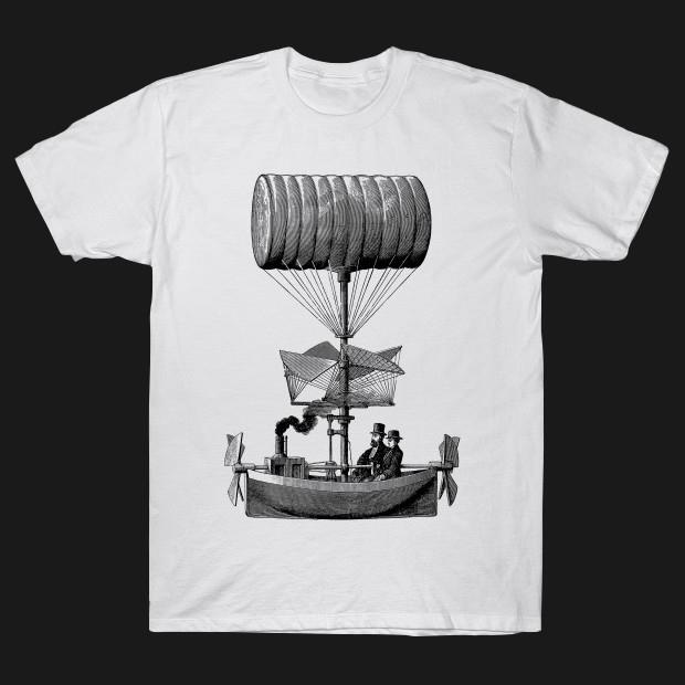 Retro dirigible balloon T-Shirt