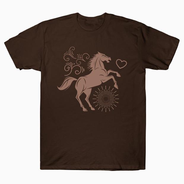 Vintage jumping horse T-Shirt