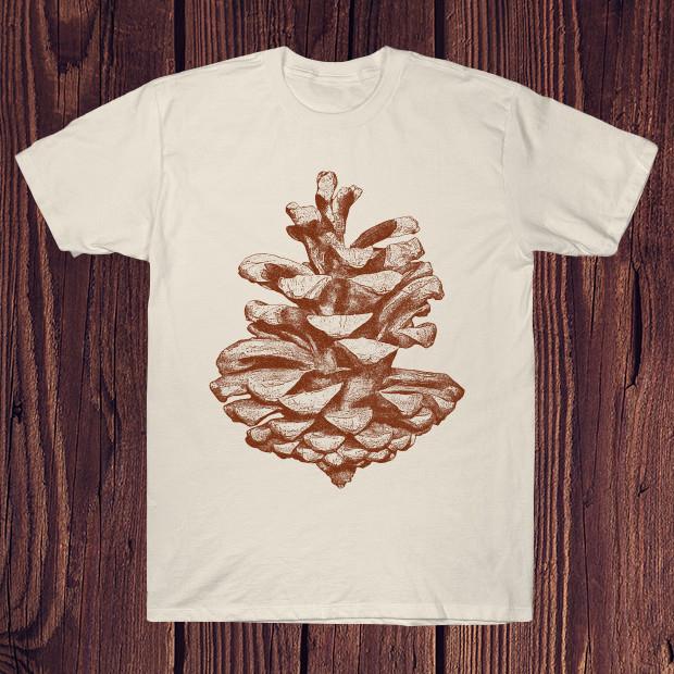 Vintage pine cone scketch T-Shirt