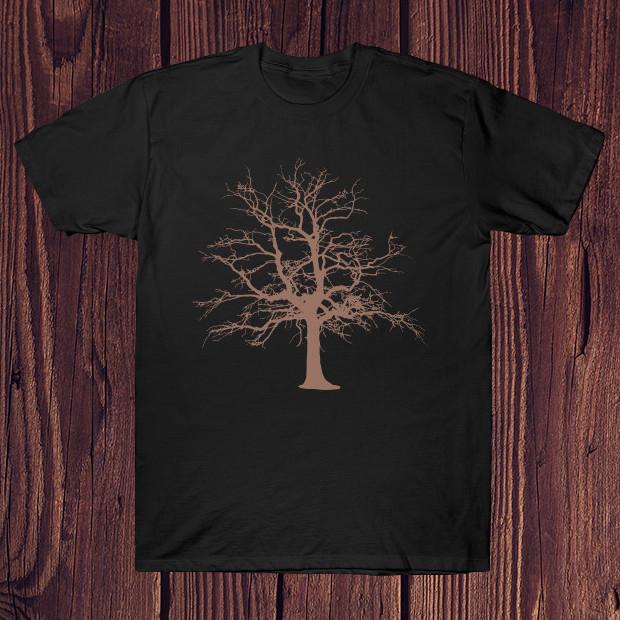 Vintage tree silhouette drawing T-Shirt