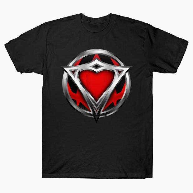 Superhero steel heart logo T-Shirt