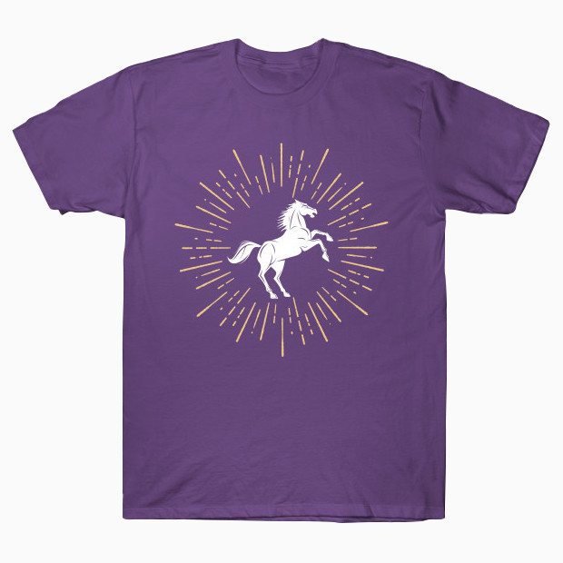 Cool jumping horse logo T-Shirt