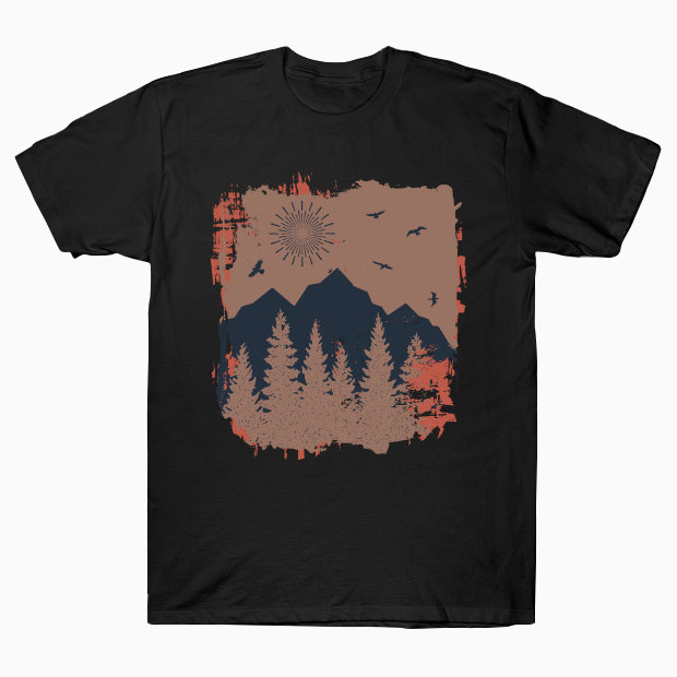 Secret vintage mountains T-Shirt